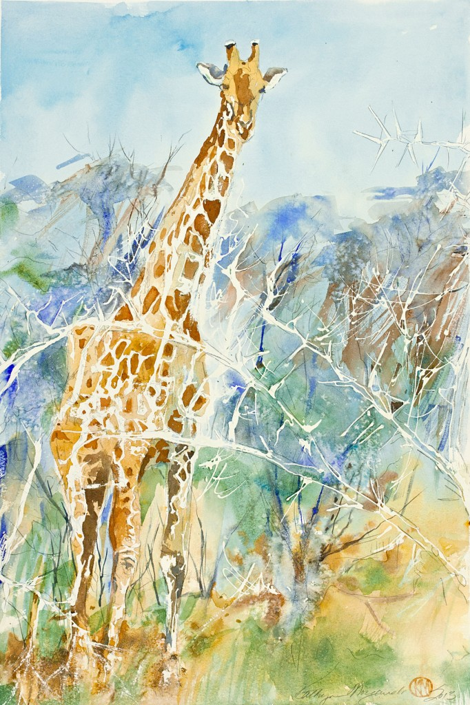 Giraffe in the Thorns by Kathryn Morganelli